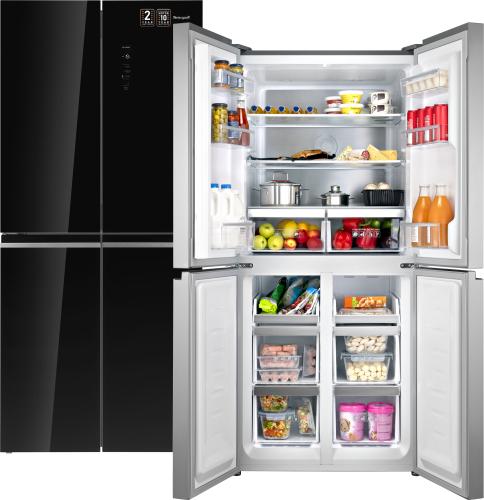 Отдельностоящий холодильник с инвертором Weissgauff WCD 486 NFB фото