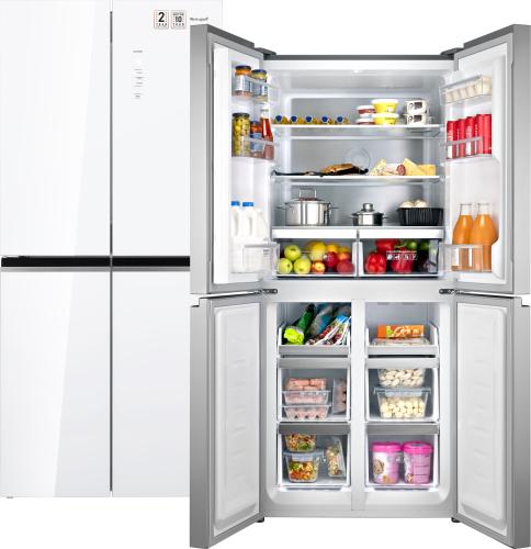 Отдельностоящий холодильник с инвертором Weissgauff WCD 486 NFW фото